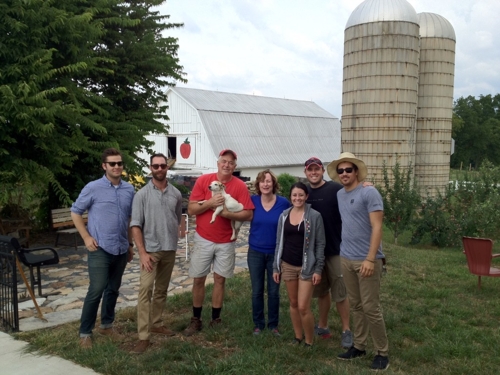 Group tours of apple farm